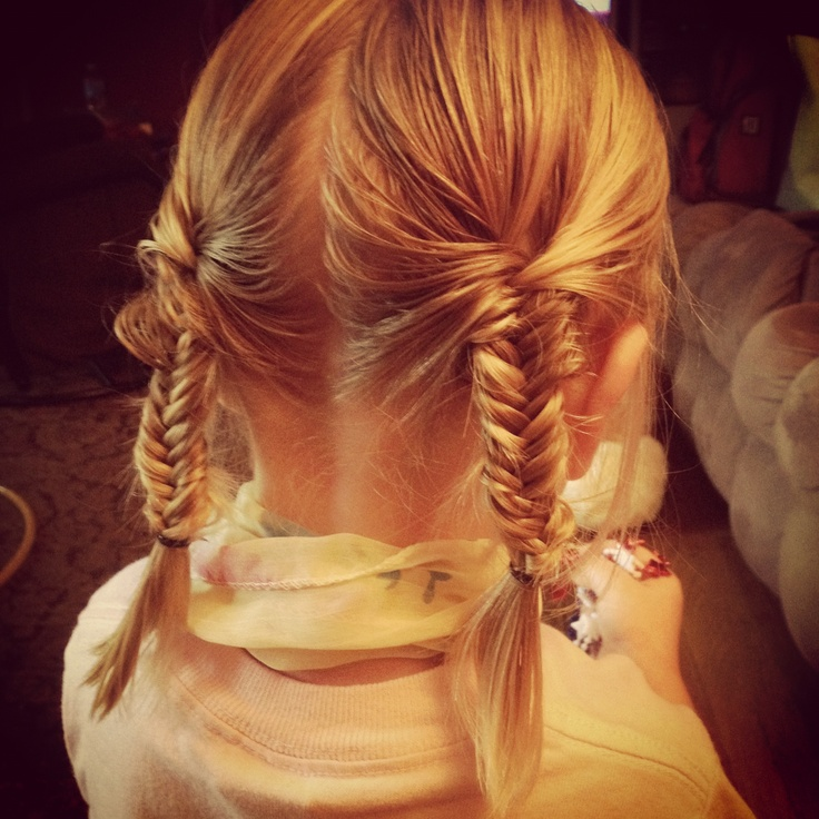 Back View Of Braided Pigtails For Girls Styles Weekly