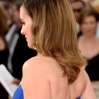 Back View of Tina Fey Latest Medium Ombre Hair