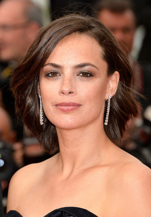 Astonishing Berenice Bejo Casual Short Wavy Hairstyle For Oval Faces Styles Short Hairstyles For Black Women Fulllsitofus