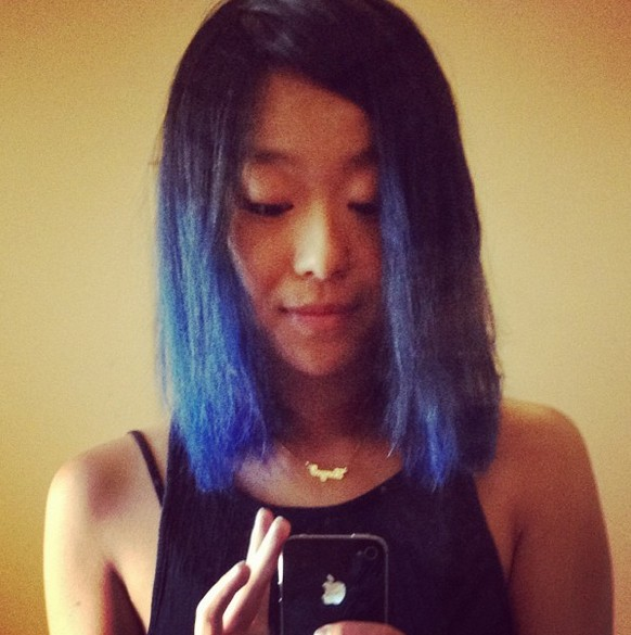 Black to Blue Ombre Hair for Shoulder Length Hair