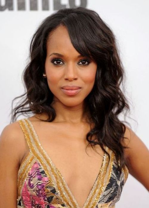 Long Hairstyles For Black Women With Bangs 90