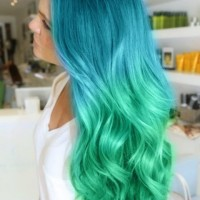 Blue to Green Ombre Hair