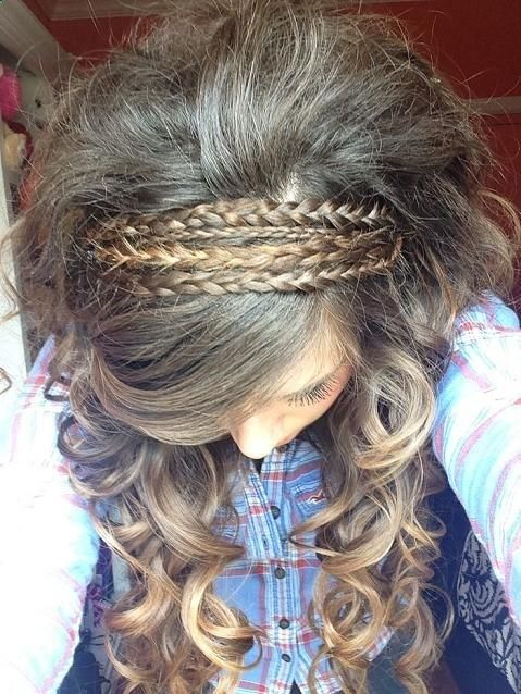Braided Curly Hairstyle for Girls