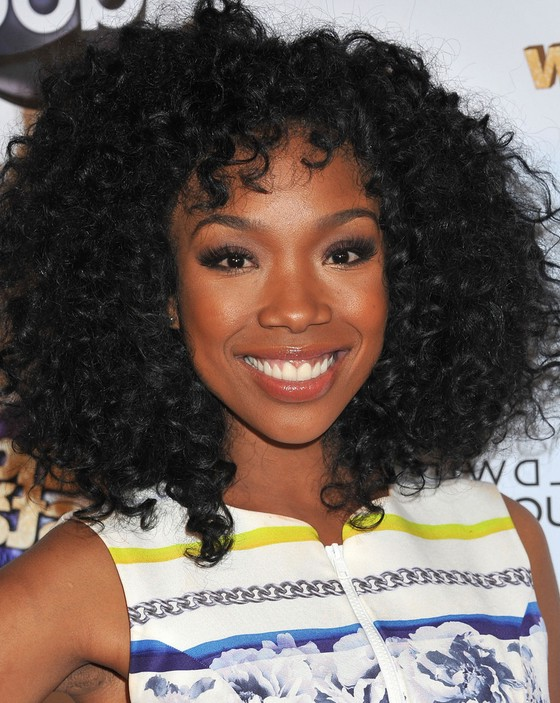 Brandy Medium Black Curly Hairstyle for Thick Hair ...