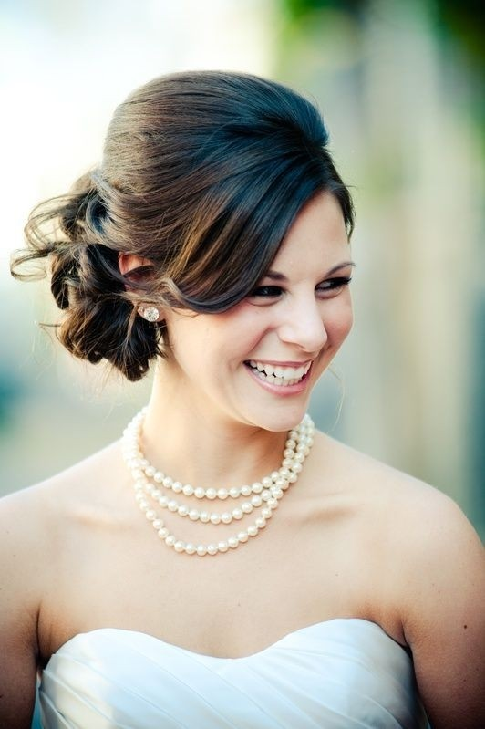 Bridal Hairstyles for Medium Length Hair: Messy Updos