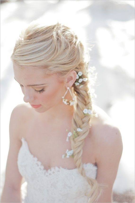 Bridesmaid Hairstyle for Side Long Braid