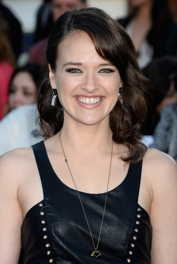 Brina Palencia Half Up Half Down Hairstyle With Bangs