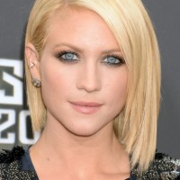 Brittany Snow Short Blonde Straight A Line Bob Cut