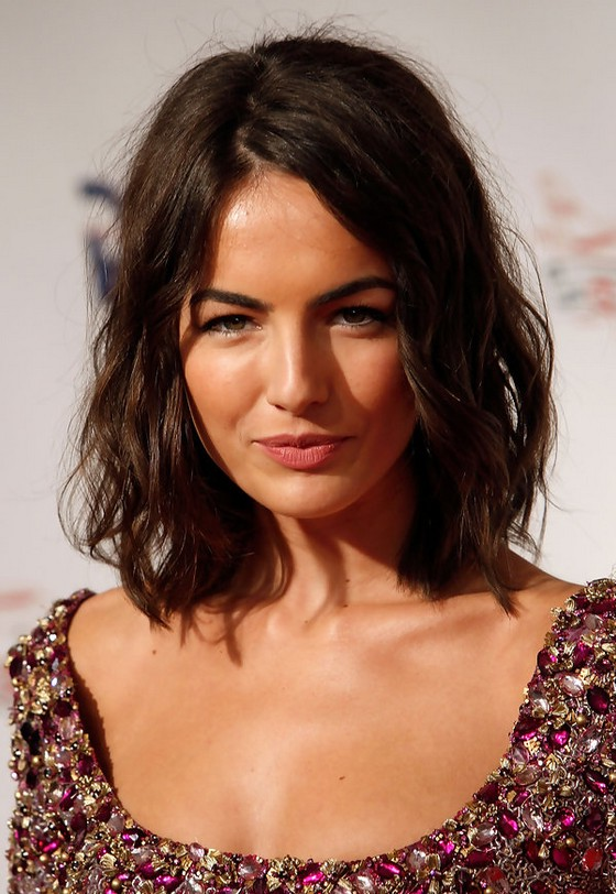 Swell Camilla Belle Chic Layered Messy Medium Wavy Bob Haircut For Hairstyle Inspiration Daily Dogsangcom