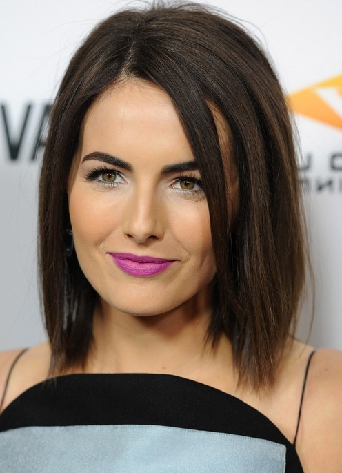 Camilla Belle Medium Dark Brown Straight Bob Haircut