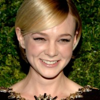 Carey Mulligan Short Sleek Straight Cut with Side Swept Bangs