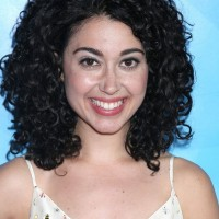 Carly Ciarrocchi Medium Black Curly Hairstyle for Thick Hair