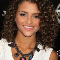 Carmen Soft Curly Hairstyle for Shoulder Length Hair