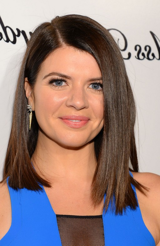 Peachy Casey Wilson Shoulder Length Straight Haircut For Round Faces Short Hairstyles Gunalazisus