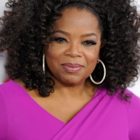 Casual Daily Curly Hairstyle from Oprah Winfrey
