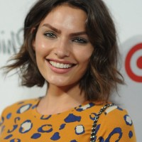 Celebrity Alyssa Miller Short Wavy Hairstyle for Women
