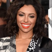 Celebrity Kat Graham Medium Wavy Hairstyle