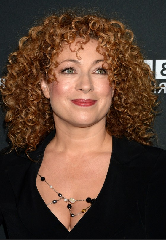 Celebrity Medium Curly Haircuts From Alex Kingston