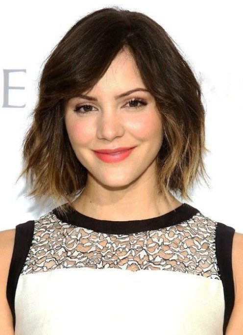 Chic Short Ombre Hair with Bangs