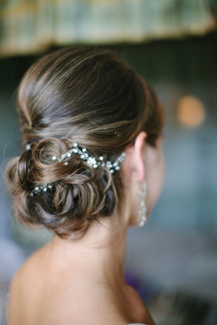 Chic Updo Hairstyles for Brides