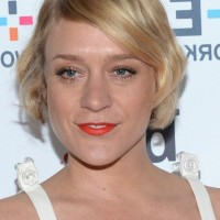 Chloe Sevigny Retro Style Short Wavy Bob Hairstyle with Bangs