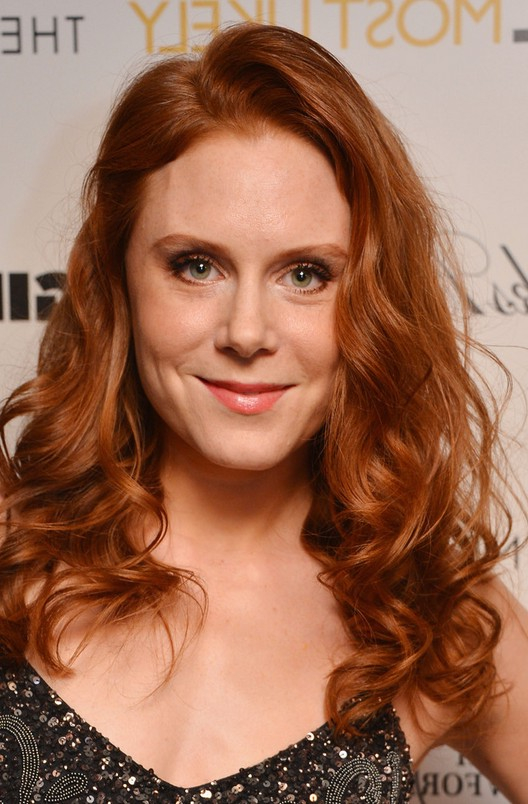 Christiane Seidel Redhead Long Curly Hairstlye For Women