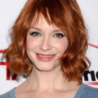Christina Hendricks Short Red WAvy Hairstyle for Women
