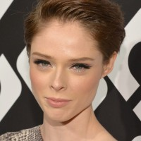 Coco Rocha Formal Side Parting Haircut for Short Hair