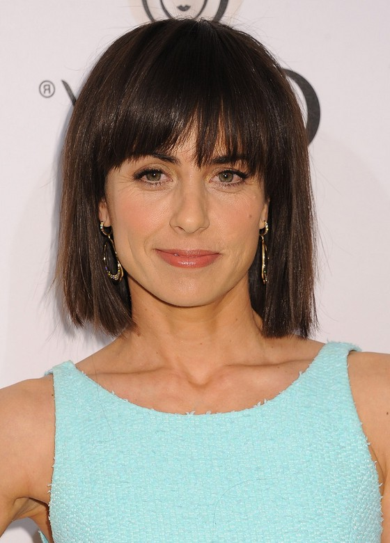 Cool Constance Zimmer Short Blunt Bob Haircut With Blunt Bangs Styles Short Hairstyles Gunalazisus