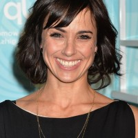 Constance Zimmer Short Wavy Hairstyle with Bangs