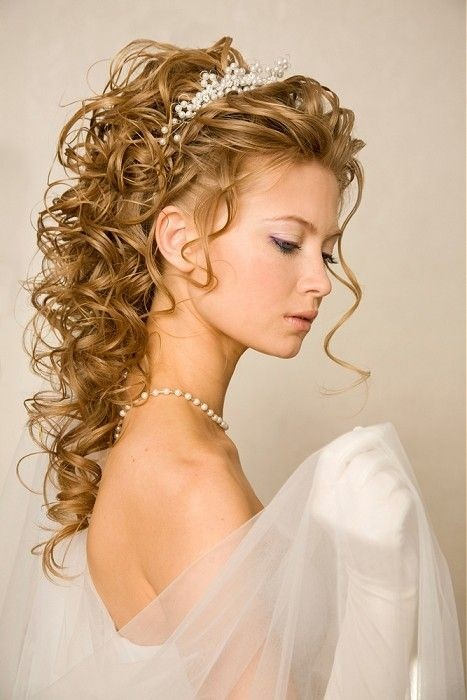 Curly Long Hair for a Bride