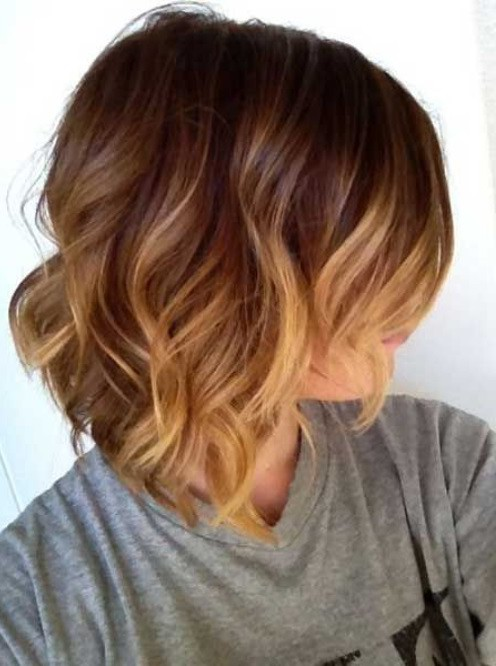 Haircut wavy hair