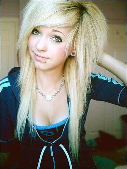 Cute Blonde Emo Hairstyle For Girls Styles Weekly