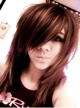 cute emo hairstyle with long bangs styles weekly