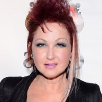 Cyndi Lauper Edgy Stylish Red Fauxhawk for Short Hair
