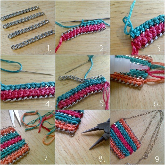 DIY Crochet Statement Necklace