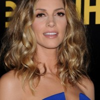Dawn Olivieri Sexy Medium Dark to Blonde Ombre Hair