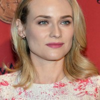 Diane Kruger Medium Wavy Haircut for Round Faces