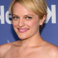 Elisabeth Moss Cute Side Parted Short Straight Haircut for Fine Hair
