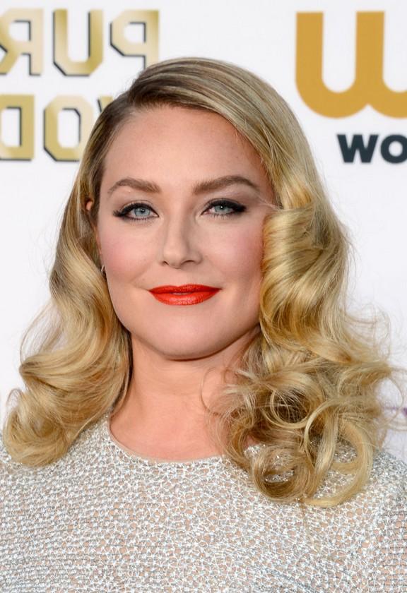 Elisabeth Rohm Medium Blonde Wavy Curly Hairstyle For