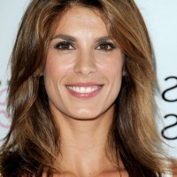 Elisabetta Canalis Casual Shoulder Length Brown Wavy Hairstyle
