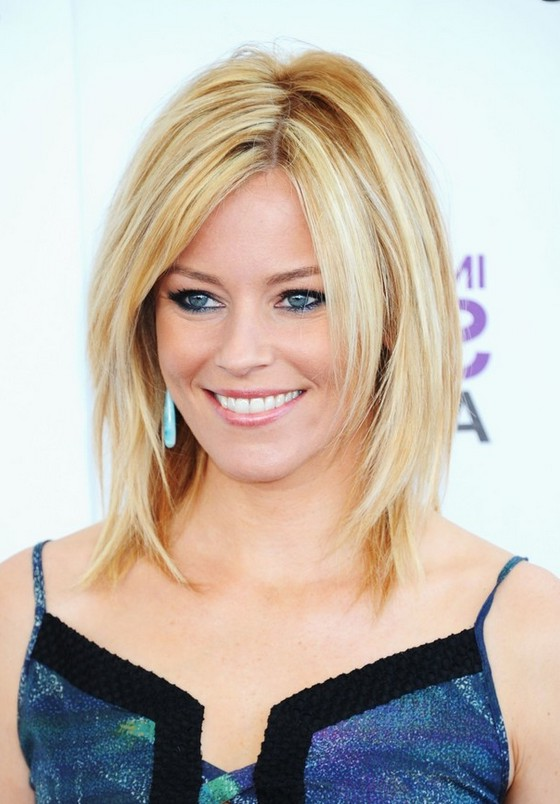 Elizabeth Banks Layered Medium Straight Blonde Hairstyle