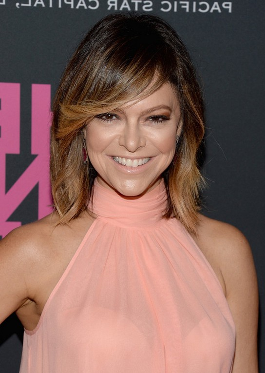 Elyse Walker Latest Mid Length Layered Haircut with Side Swept Bangs ...