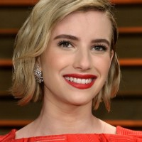 Emma Roberts Short Wavy Hairstyle for Wedding