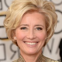 Emma Thompson Short Blonde Wavy Hairstyle for Women Over 50