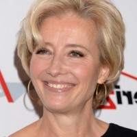 Emma Thompson Short Wavy Haircut for Women Over 50