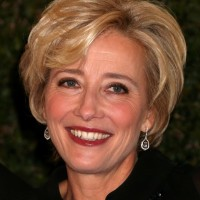 Emma Thompson Short Wavy Hairstyle for Women Over 50