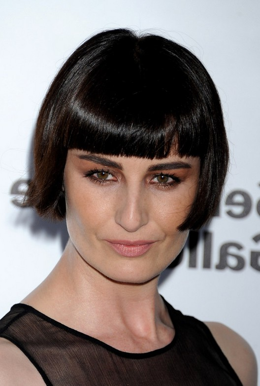 Pleasing Erin O39Connor Short Pageboy Haircut With Blunt Bangs Styles Weekly Short Hairstyles For Black Women Fulllsitofus