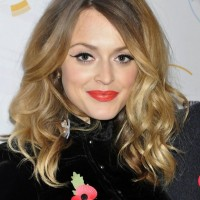 Fearne Cotton Shoulder Length Ombre Curly Hair