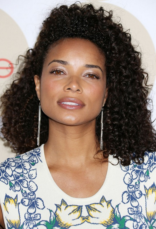 Female Celebrity Medium Dark Curly Hairstyle from Rochelle ...